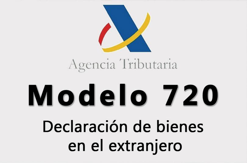 Declaració de béns i drets situats a l'estranger. MOD-720